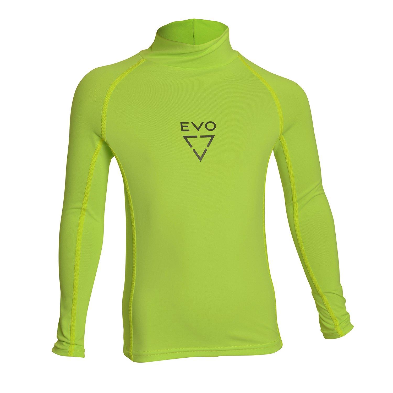 EVO UPF 50+ 超ストレッチ 長袖ラッシュガード(キッズ)8イエロー   B07B9XNPLK