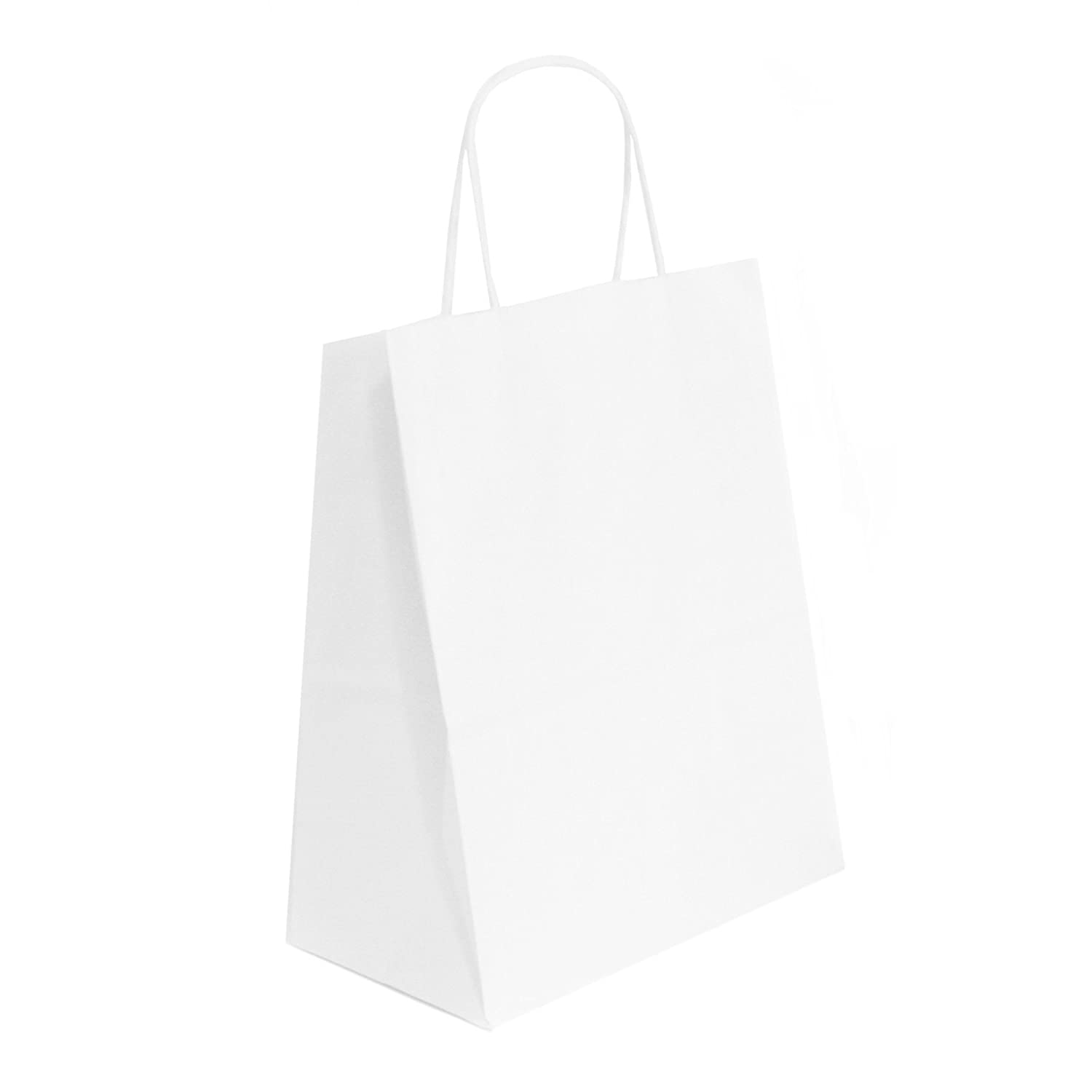 White Paper Shopping Bags, 14x9x16, 25ct, bulk 14x9x16 White Label