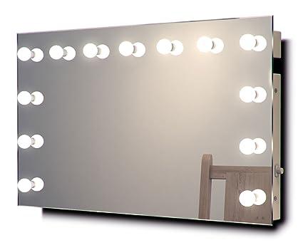 Diamond X Wallmount Hollywood Makeup Mirror with Warm White ...