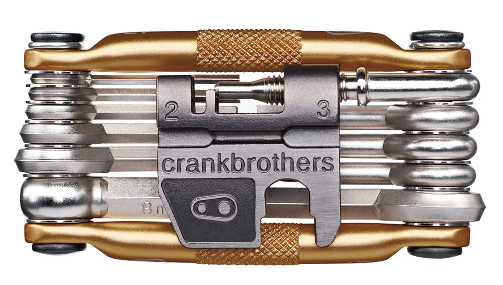 CRANKBROTHERs Crank Brothers Multi Bicycle Tool (17-Function, Gold) by CRANKBROTHERs