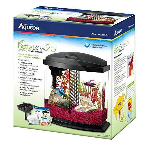 Aqueon Betta Bow LED Fish Aquarium Kit by Aqueon