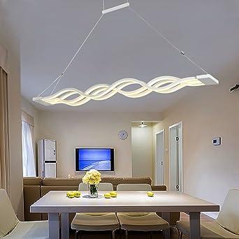 Superieur $éclairage Lustre Lustre Lustre Led Pendentif Métallique Moderne Plafond  Plaque Suspendue Luminaire Décoration Cuisine Salle