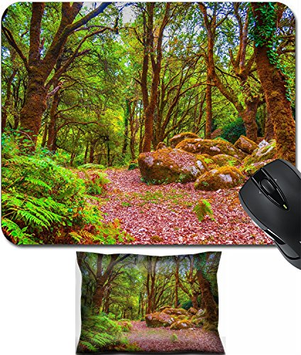 Afternoon Path - MSD Mouse Wrist Rest and Small Mousepad Set, 2pc Wrist Support design 30865491 Wooden path in the forest in a summer afternoon