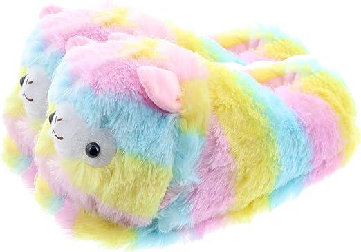 Royal Deluxe Childrens Kids Llama Sheep Warm Plush Indoor Slipper