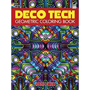 Amazon.com: Dover Publications-Deco Tech Geometric Coloring Book ...