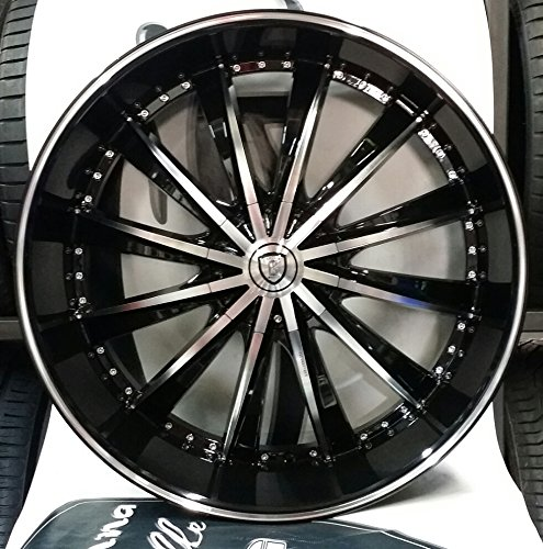 26 inch borghini bw19 rims wheels tire package black machine face 6x139 6x135 will fit chevy. Black Bedroom Furniture Sets. Home Design Ideas