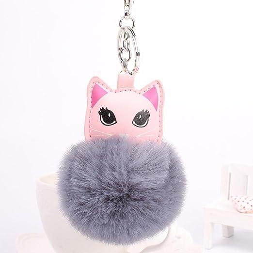 artistic9 (TM) lindo gato ojos grandes colgante bola de piel ...
