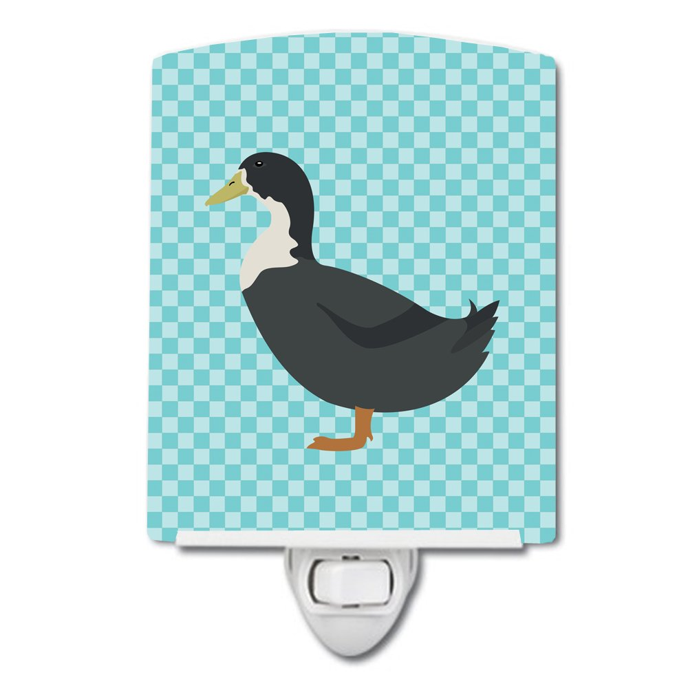 Carolines Treasures Swedish Duck Blue Check Ceramic Night Light 6x4 Multicolor