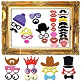 60 pcs Photo Booth Props Photo Booth Frame DIY Kit Wedding Birthday Graduation Party Props Dress-up Accessories Party Favors Photo Frame