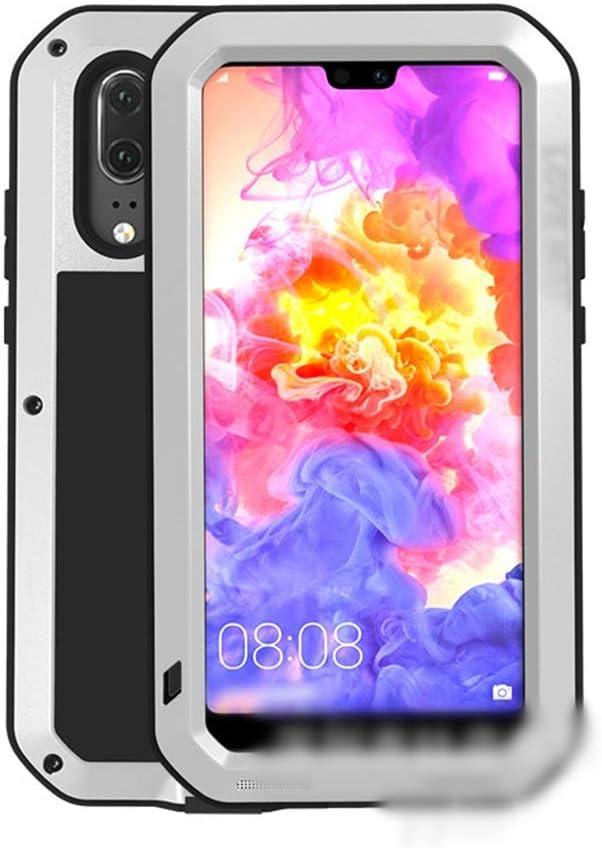 Abiliyy Huawei社P20、P20 Pro、P20 Lite、Mate10、Mate10 Pro用のファッション3アンチ携帯電話ケース新しい金属製のカバー飛散防止保護電話ケース (Color : 銀, Edition : P20 Pro)