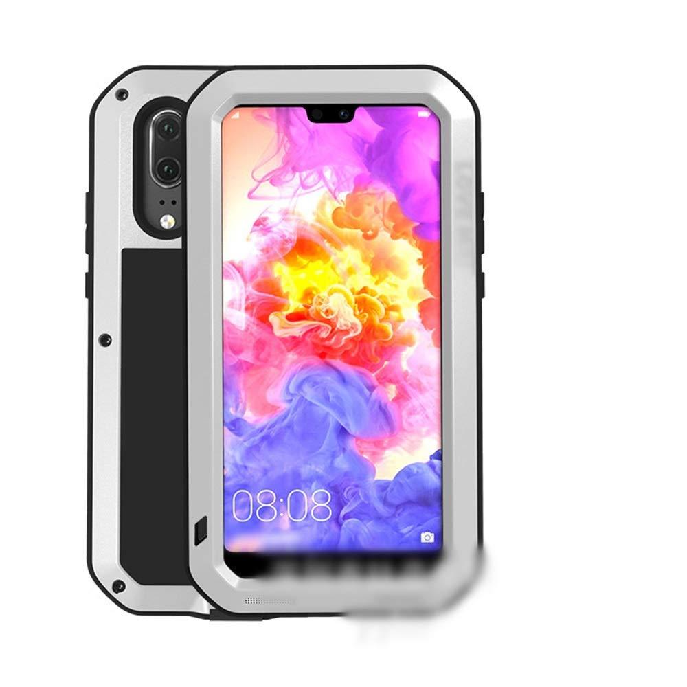 Abiliyy Huawei社P20、P20 Pro、P20 Lite、Mate10、Mate10 Pro用のファッション3アンチ携帯電話ケース新しい金属製のカバー飛散防止保護電話ケース (Color : 銀, Edition : Mate10)