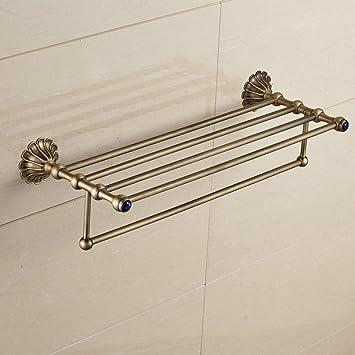 Yetta Home Estante para Toallas con Barra de Toalla Doble Almacenamiento en el baño Organizador Colgante