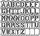Quadra-Lock - Interlocking Alphabet Stencils - 3 inch - 40 mil ultraflex ind