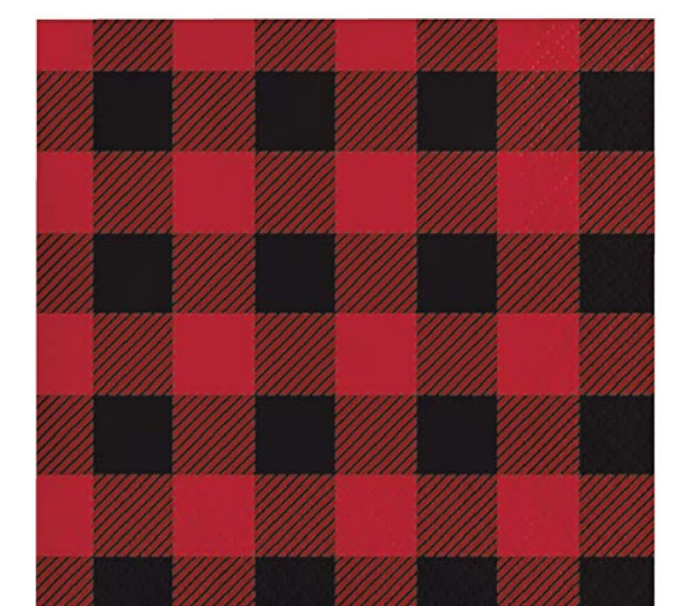 Buffalo Plaid Beverage Napkins, 96 Count by Creative Converting Sturdy Styles