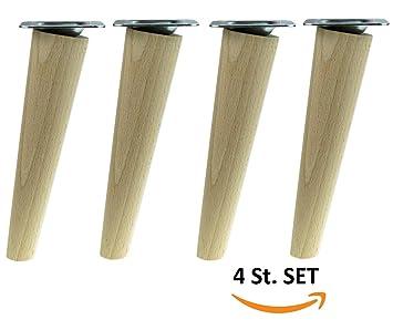 4x Holzfusse Mobelfusse Sofafusse Buche Zubehor L 35 Cm Schrag Holz