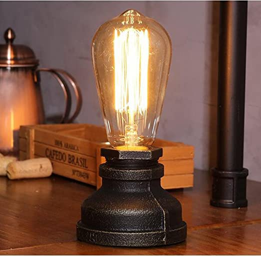 Fsliving steampunk iron table lamp vintage desk light e27 uk fsliving steampunk iron table lamp vintage desk light e27 uk standard plug table lamps iron base mozeypictures Images