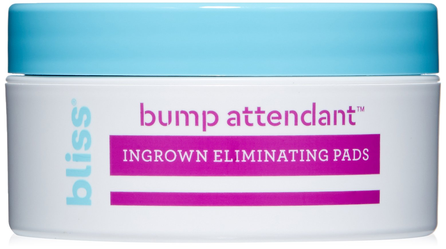 Bliss Bump Attendant, Ingrown Hair Eliminating Pads | Use Between Waxing/Shaving Sessions | Paraben Free, Cruelty Free | 25 Pads