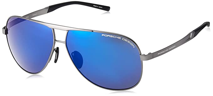4ff9100ab9e3 Image Unavailable. Image not available for. Color  Porsche Design Titanium  Sunglasses P8657 B Grey ...