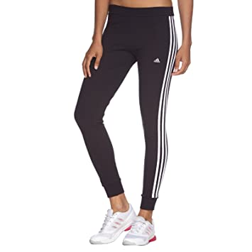 30a0e226f99d9d adidas Performance Essentials Women's 3 Stripe Gym Leggings - Black - XXS
