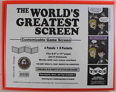 Amazon com: World's Greatest GM Screen, The - Orange (Landscape