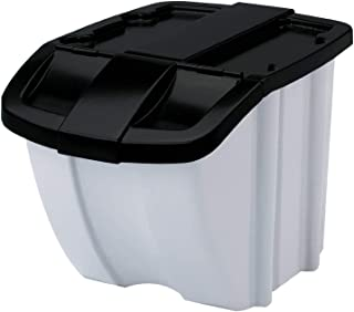 product image for Suncast 18-Gallon Stacking Recycle Storage Bin, Gray