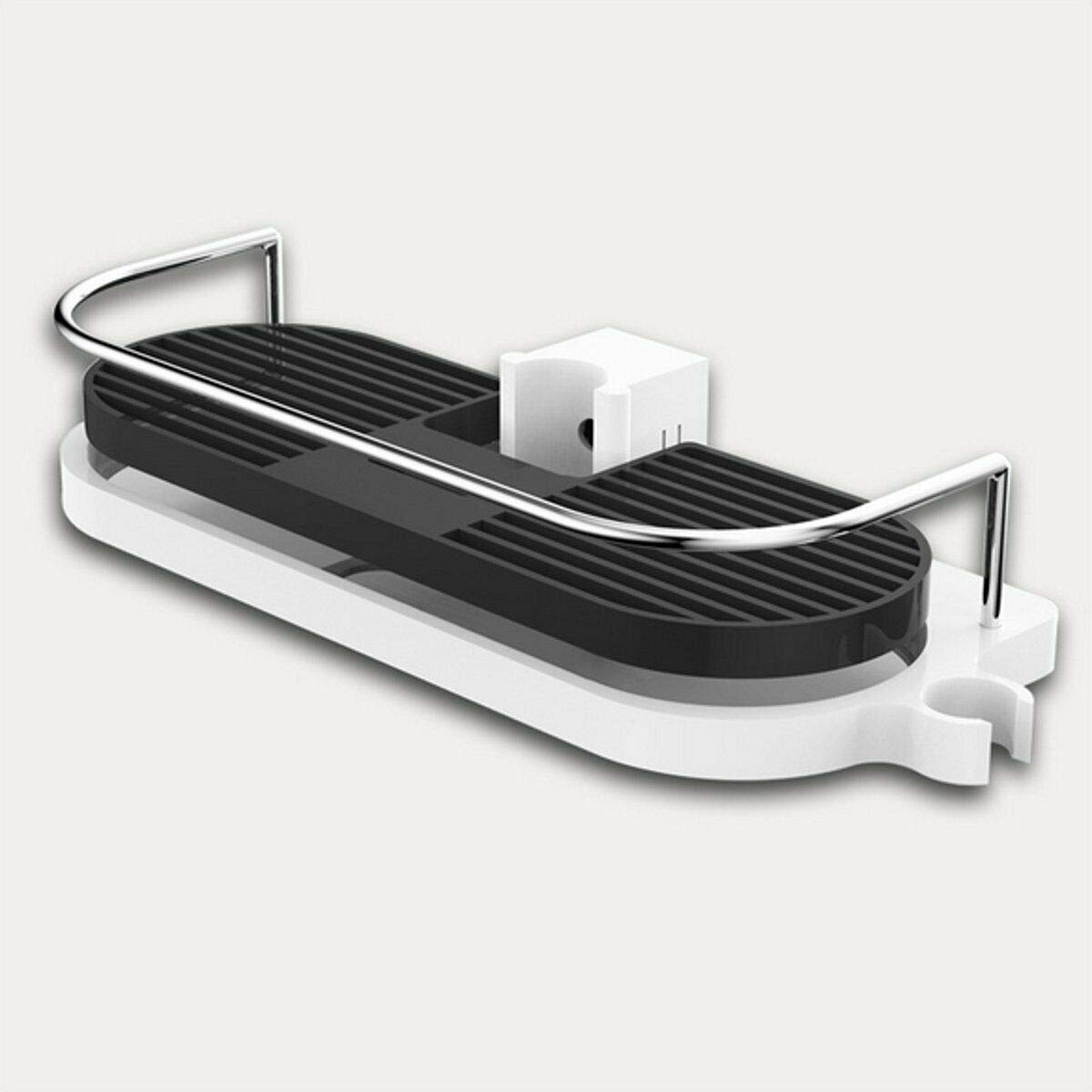 Hollow Tray Holder Bathroom Pole Shelf Shower Bath Storage Caddy Rack Organiser