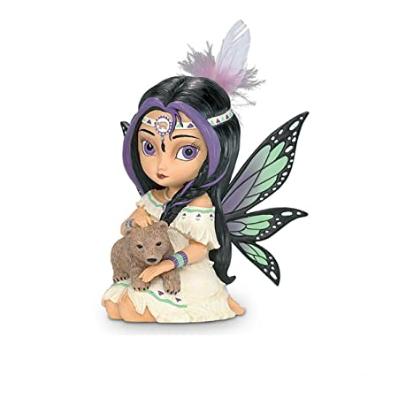The Hamilton Collection Jasmine Becket-Griffith Wildwood, The Spirit of Power Bear and Fairy Fantasy Art Figurine
