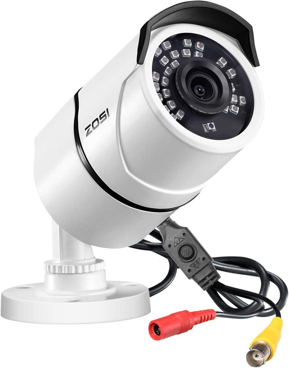 ZOSI 2.0MP FHD 1080p 1920TVL Security Camera Outdoor Indoor (Hybrid 4-in-1 HD-CVI/TVI/AHD/960H Analog CVBS),36PCS LEDs,100ft IR Night Vision,Weatherproof Surveillance CCTV Bullet Camera Housing
