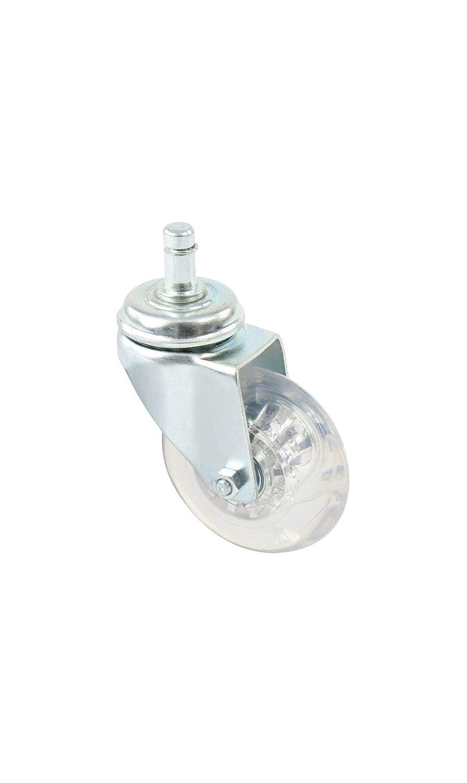 Lenkrolle /Ø 100 mm Thermoplast Gleitlager Gewindestift M10x15 mm Bremse Doppelrolle