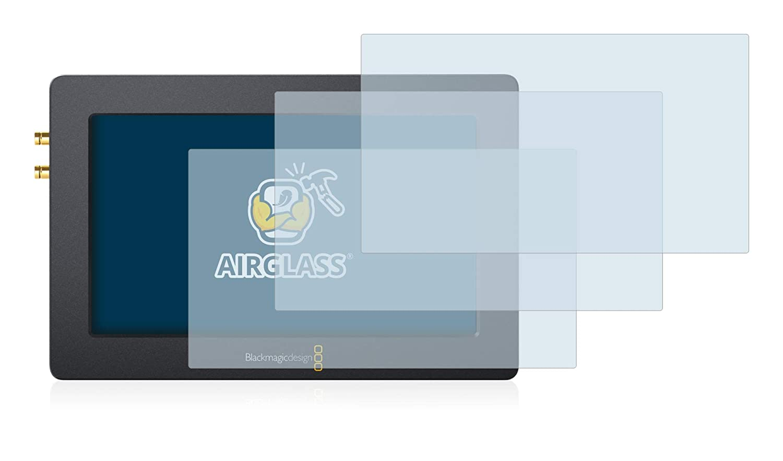 5.0 9H H/ärte 3er Pack - Flexibles Airglass BROTECT Panzerglas Schutzfolie f/ür Blackmagic Design Video Assist