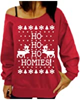 Weihnachtspullover Damen Christmas Weihnachten Sweatshirt Oberteile