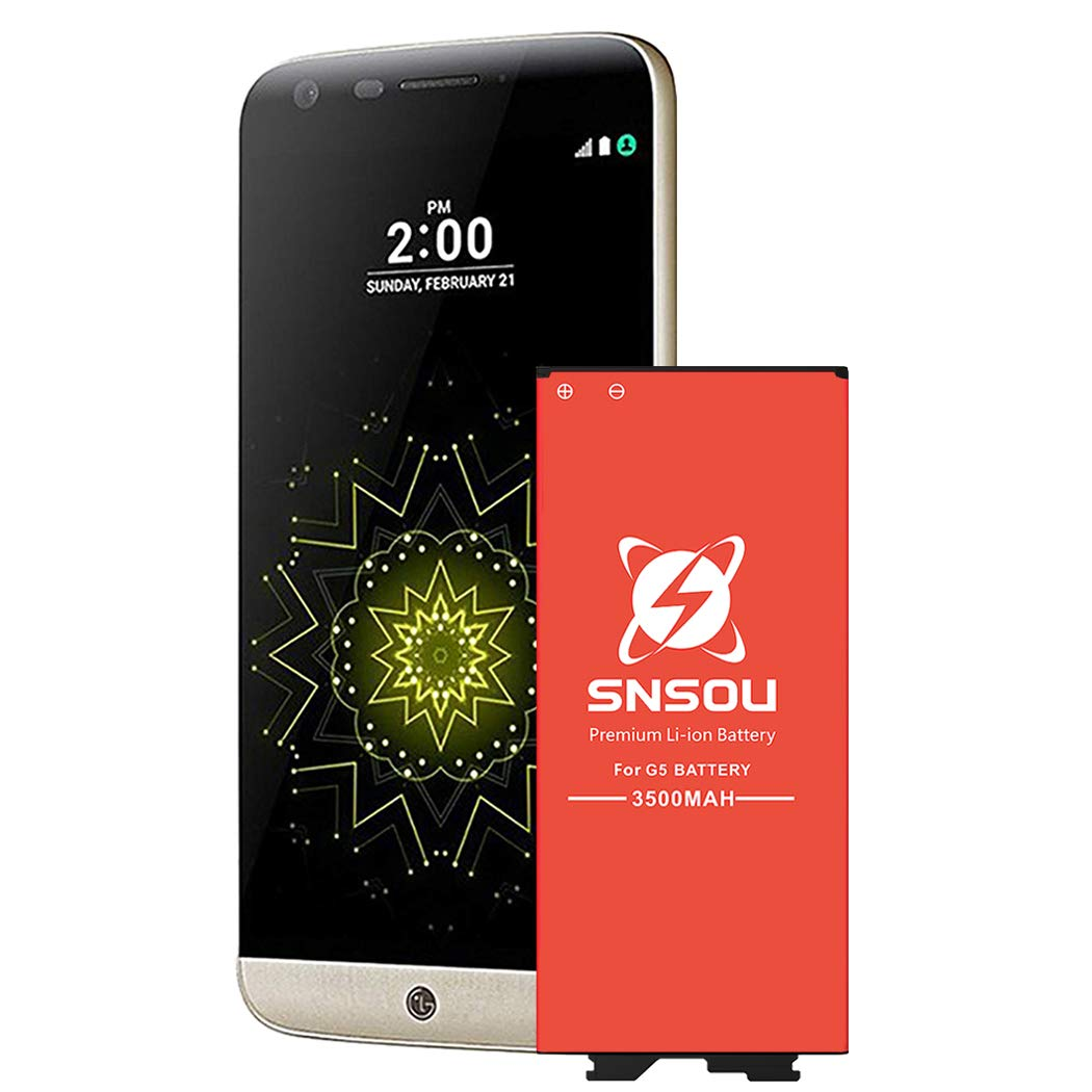 LG G5 Battery, Upgraded SNSOU 3200mAh Li-ion Battery Replacement for LG G5 BL-42D1F VS987 Verizon,H830 T-Mobile, H820 AT&T, LS992 Sprint,US992,H845 Dual H850 H858,G5 Spare Battery [24 Month Warranty]