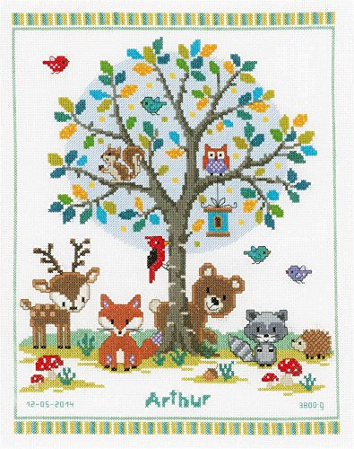 - Vervaco Into the Woods Counted Cross Stitch Kit, Multi-Colour