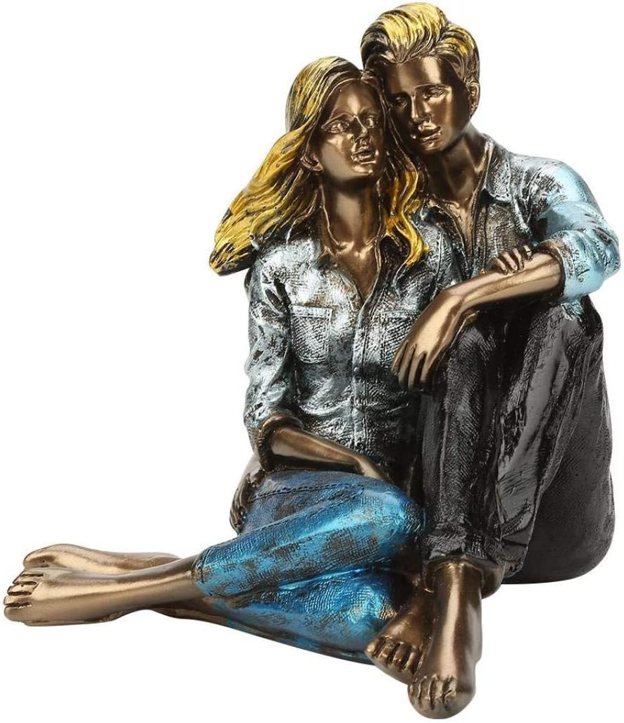 JDSHSO Resin Crafts Couple Figure Statue Handmade Valentine's Day Wedding Gift Home Decor Lovers Sculpture