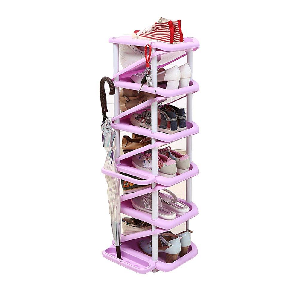 YANFEI El Bastidor de Zapatos Multicapa Tiene Capacidad para 11 Pares de Zapatos y 4 Paraguas Ahorra Espacio Instalación Extraíble (Color : C): Amazon.es: ...