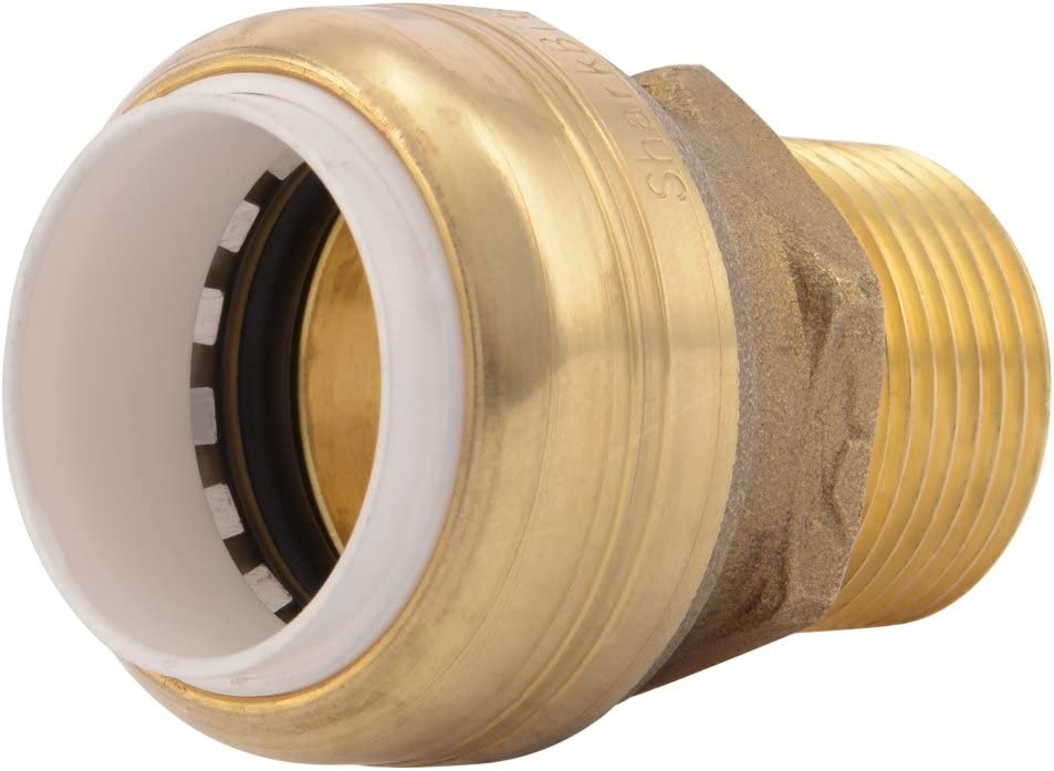 SharkBite PVC Connector UIP134A 3/4 inch X 3/4 inch Male NPT Plumbing Fitting