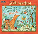 LANG - 2018 Wall Calendar - ''Simple Inspirations'' - Artwork By Debi Hron - 12 Month - Open, 13 3/8'' X 24''