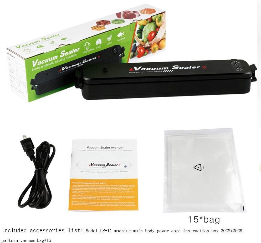 Macchina Sottovuoto Per Alimenti Professionale Sigillatrice Sottovuoto 2 in 1 Sigillatrice Sottovuoto Secchi E Umidi Automatico Vacuum Sealer,Nero Black