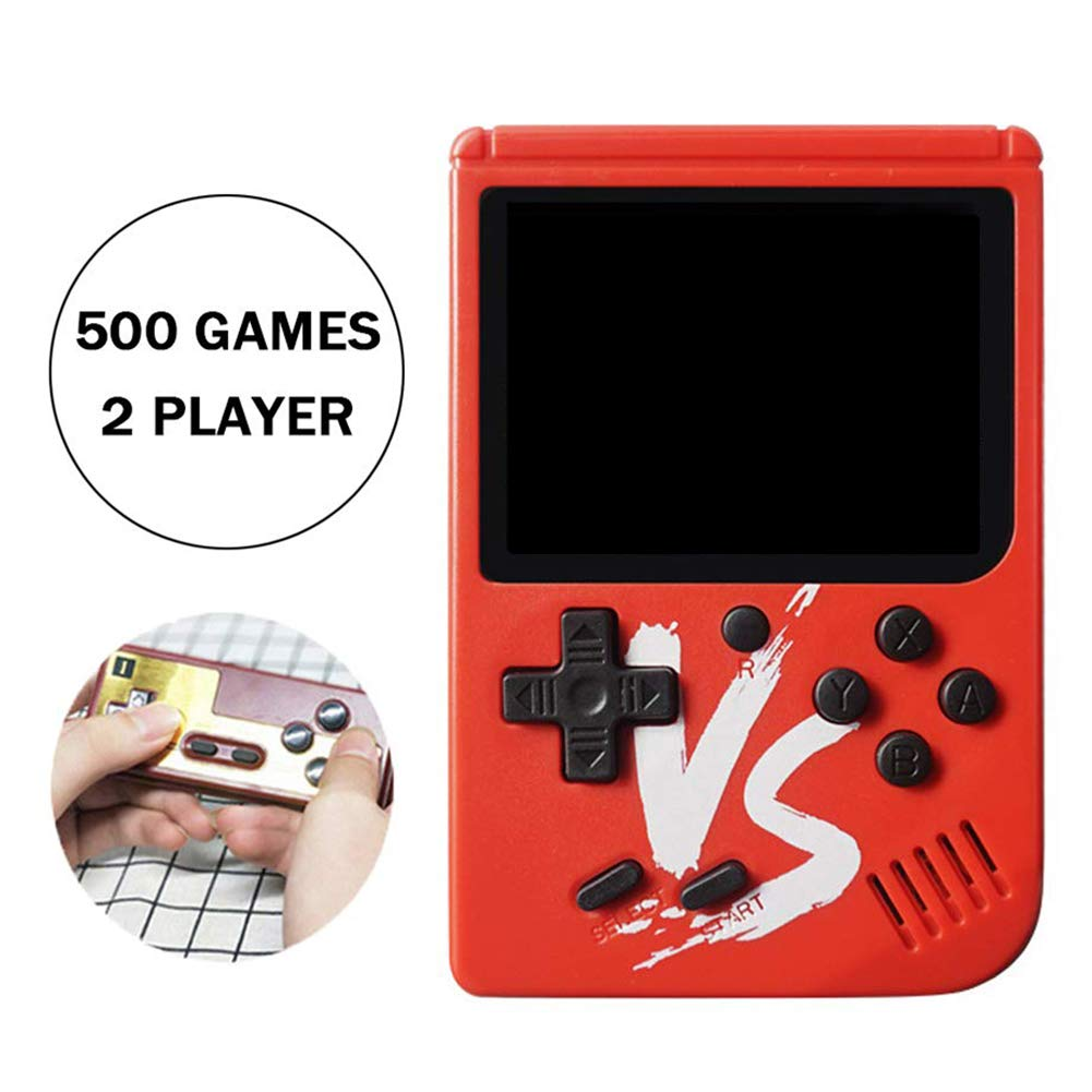 RoJuicy Handheld Game Console, Retro FC Game Console, Video Game Console with 3 Inch Screen 500 Classic Games Support TV Video Game Player tick & 1 Controller for Birthday Presents by RoJuicy (Image #3)