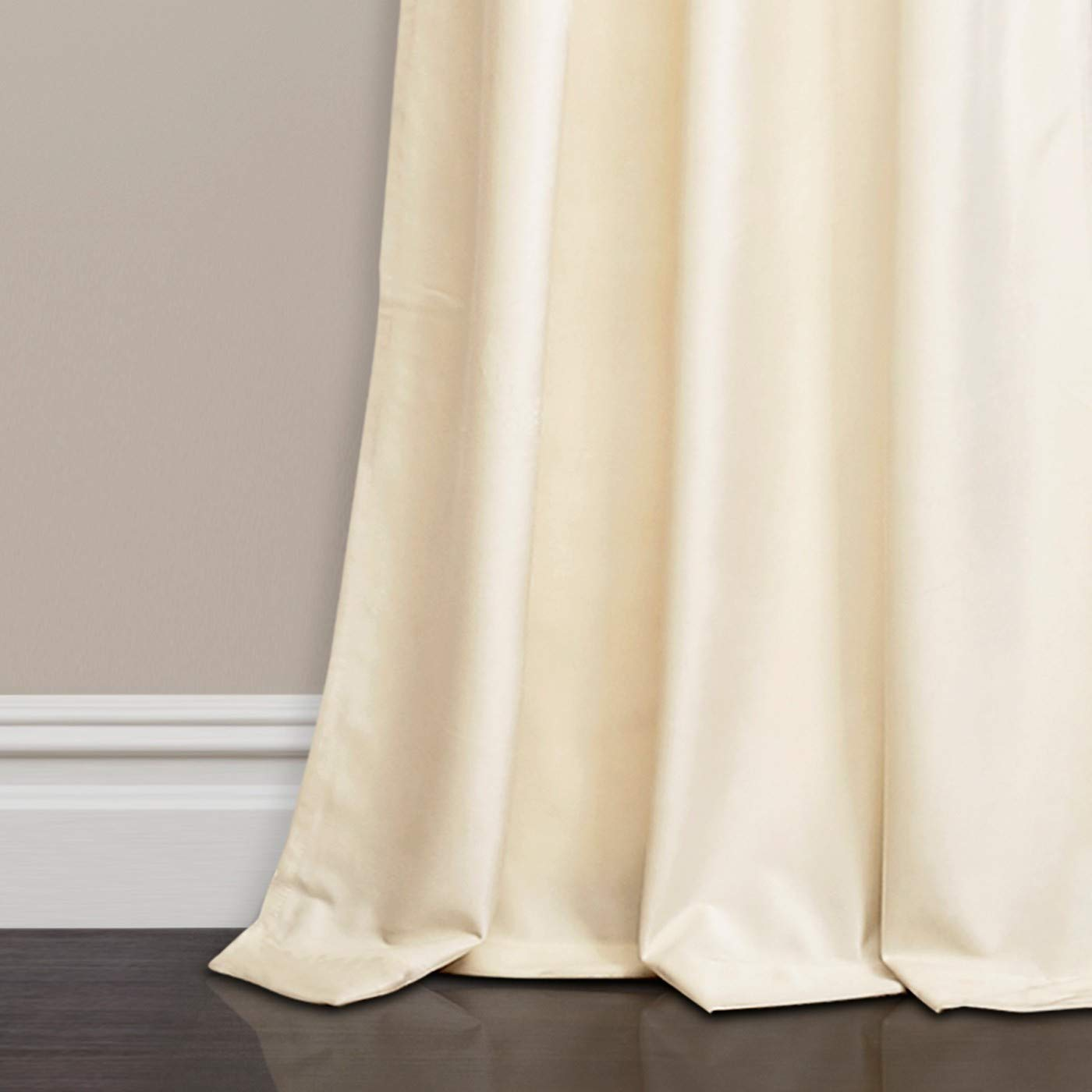 ARlinen Cotton Curtain Panel Set of (2) Solid Ivory for Indoor Outdoor Darkening Drapes for Home Panel Curtain, Bedroom, Living Room, Kitchen, Nursery (W60 XL84), Ivory/Cream