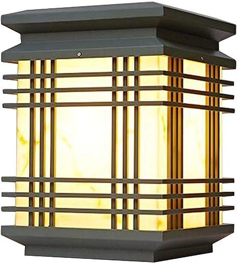TYFUI Iluminación exterior Faros de columna Iluminación de patio Luces de pared al aire libre Luces de poste de puerta de jardín Luces de pared impermeables Luces de campo for el hogar