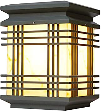 GSAGJztd Columna Exterior de la lámpara de iluminación Pilar Lámparas al Aire Libre Patio Cubierta Calle Arriba Pared Impermeable de Paisaje del jardín Luz de grama Visualización de Las Luces: Amazon.es: Hogar