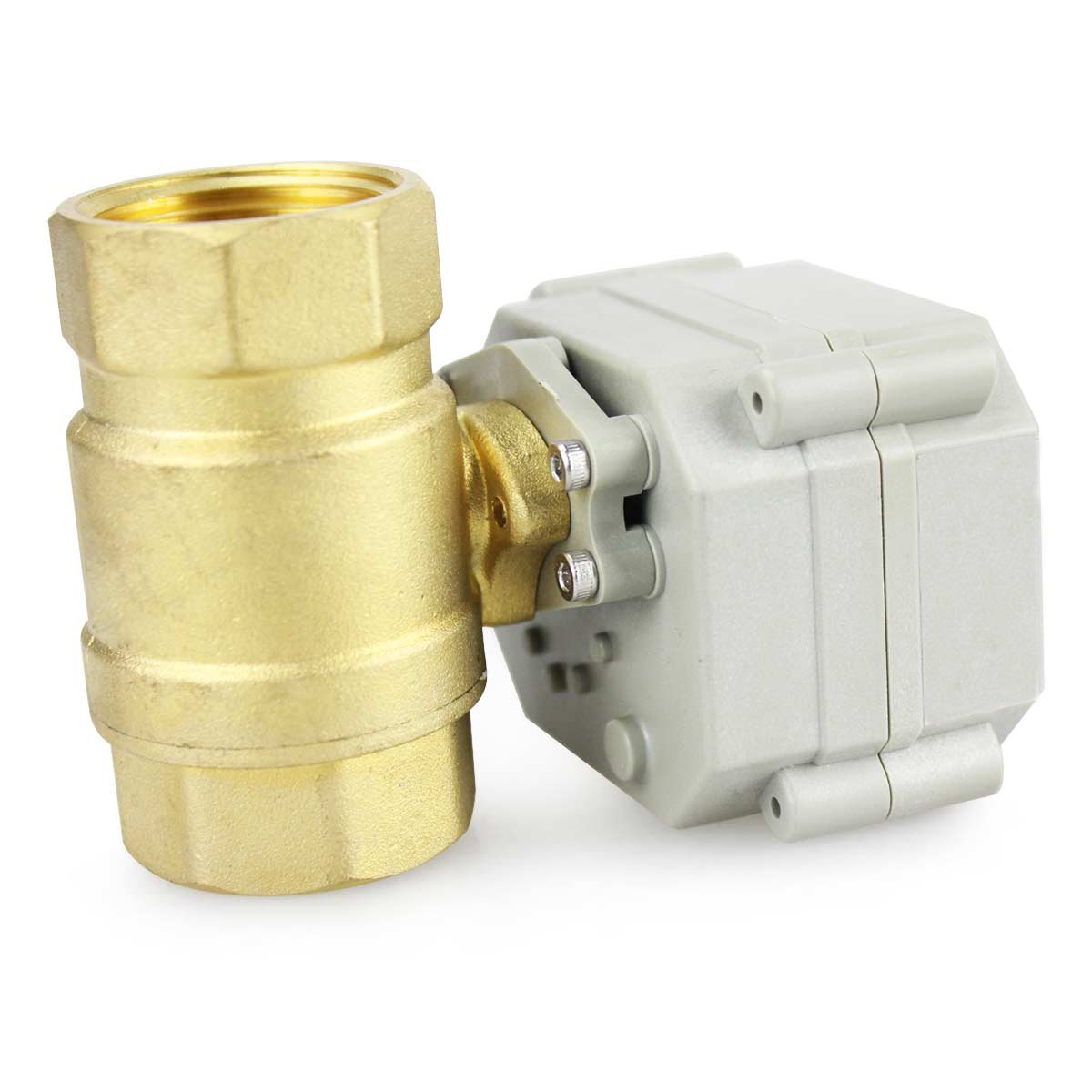 3//4 inch HSH-Flo 2 Way 1//2 3//4 1 1-1//4 12V//24VAC//DC Brass On//Off Auto Return Electrical Position Feedback Motorized Ball Valve