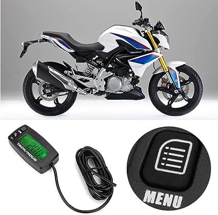 LCD Tac/ómetro digital Contador de tiempo de tac/ómetro reiniciable RPM para motor de gasolina 2//4 carrera KIMISS Motocicleta Tac/ómetro