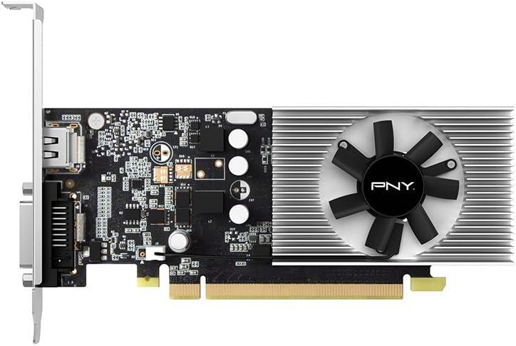 PNY nVidia GeForce GT1030 Scheda Grafica da 2 GB, Pci Express 3.0, Nero