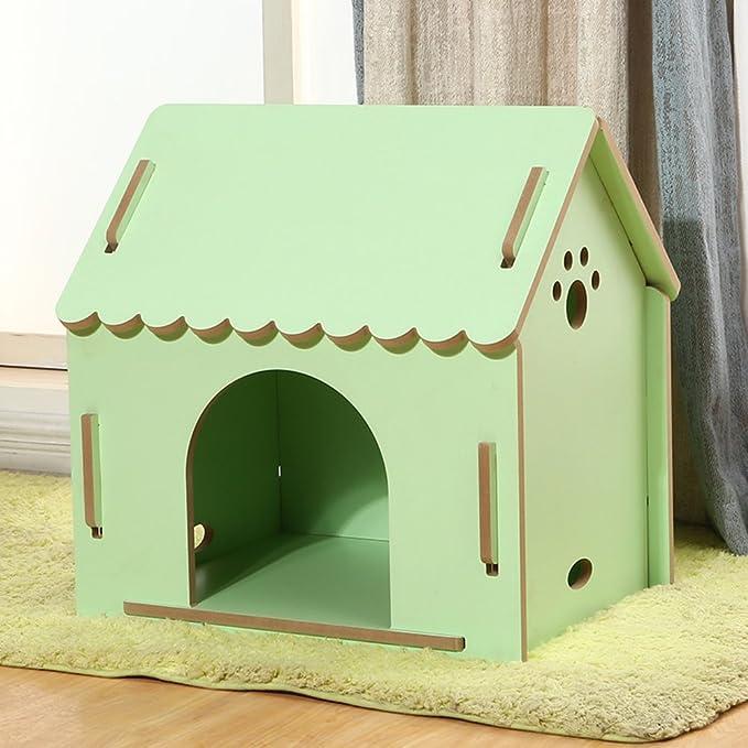 SL&ZX Caja De Madera Perro, Medio Perrera Casa del Animal Doméstico Al Aire Libre Impermeable Perro Jaula Perrera-D 55x77x75cm(22x30x30): Amazon.es: Jardín