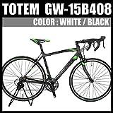 totem ロードバイク スポーツバイク 自転車 超軽量アルミフレーム 700C ダブルクイックハブ シマノ SHIMANO 全国 最安値 TOTEM トーテム 通勤通学 26インチ STIレバー デュアルコントロールレバー 15B408