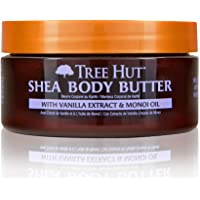 Tree Hut 24 hour Intense Hydrating Shea Body Butter Tahitian Vanilla Bean, 7oz, Hydrating Moisturizer with Pure Shea Butter for Nourishing Essential Body Care, 701017