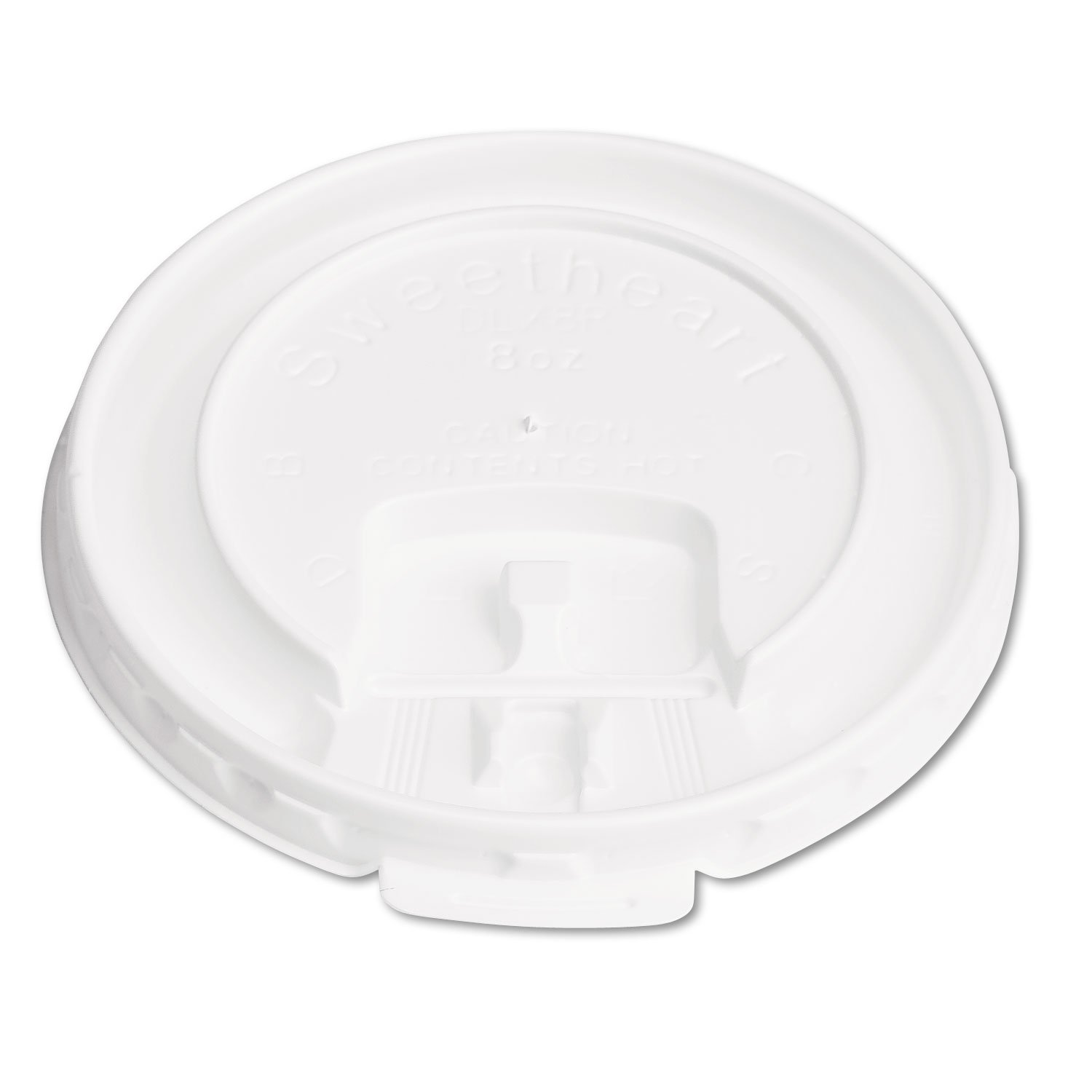 SOLO Cup Company Travel Cups, Lid, for SLOX8J, White, 2,000/carton (DLX8R)