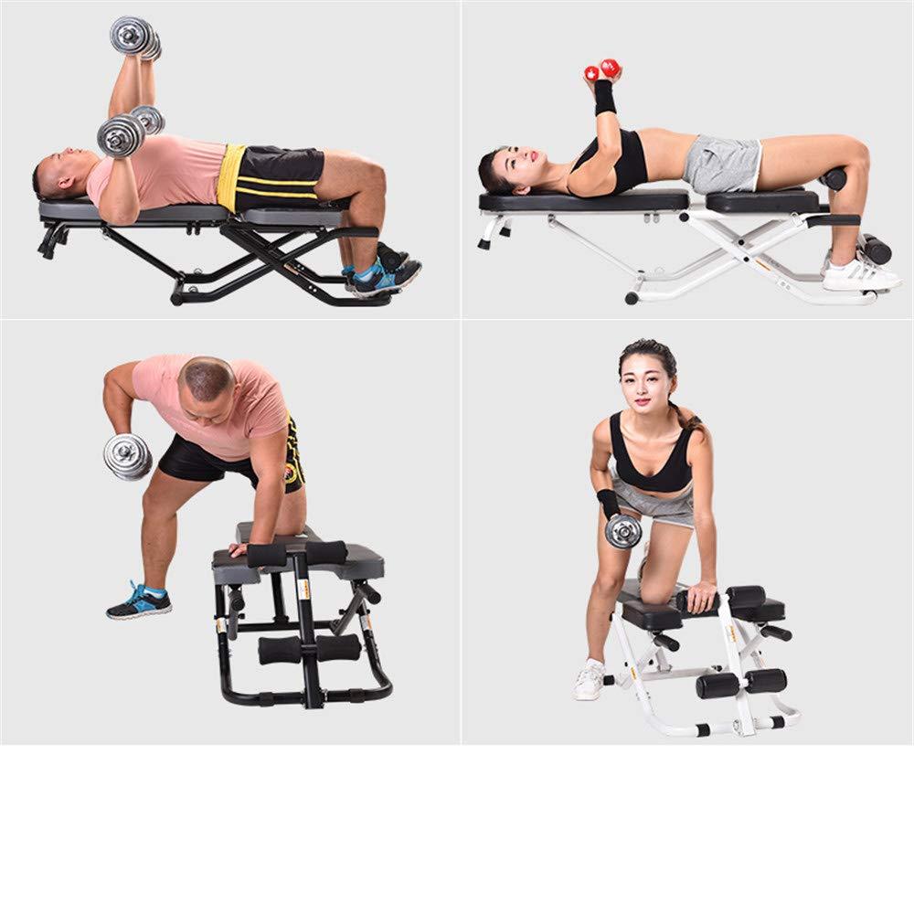 Maybesky Ejercicio aerobico Equipo de Gimnasia Sit-up Board Deportes Multifuncional Inicio Supine Board Dumbbell Bench Inverted Machine Taburete de ...